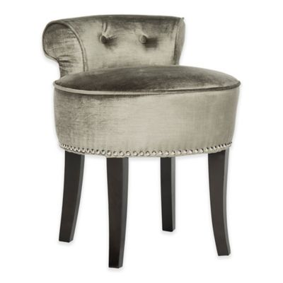 Marvelous Safavieh Georgia Vanity Stool In Pewter