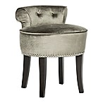 Safavieh Georgia Vanity Stool in Pewter