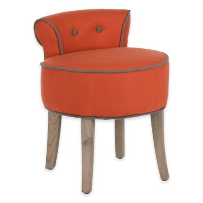 Safavieh Georgia Vanity Stool In Orange