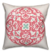 Designs Direct Moroccan Circle Square Throw Pillow in Pink