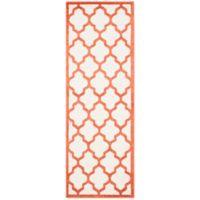 Safavieh Amherst Gate 2-Foot 3-Inch x 11-Foot Indoor/Outdoor Area Rug in Beige/Orange