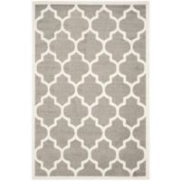 Safavieh Amherst Gate 6-Foot x 9-Foot Indoor/Outdoor Area Rug in Dark Grey/Beige