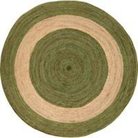 Surya Voru 8-Foot Round Area Rug in Green