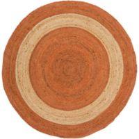 Surya Voru 8-Foot Round Area Rug in Orange