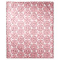Designs Direct Moroccan Circle Throw Blanket in Pink