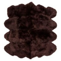 Surya Lucinda 6-Foot x 8-Foot Area Rug in Dark Brown
