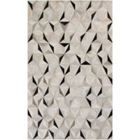 Surya Luiana Hide 2-Foot x 3-Foot Accent Rug in Charcoal