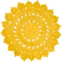 Surya Dazed 3-Foot Round Area Rug in Yellow