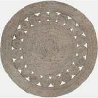 Surya Dazed 3-Foot Round Area Rug in Taupe