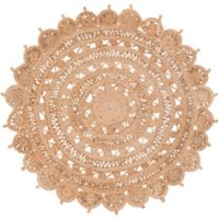 Surya Dazed 3-Foot Round Area Rug in Camel