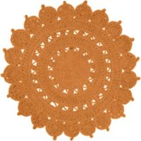 Surya Dazed 8-Foot Round Area Rug in Rust