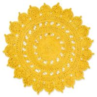 Surya Dazed 5-Foot Round Area Rug in Yellow