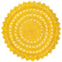Surya Dazed 8-Foot Round Area Rug in Yellow