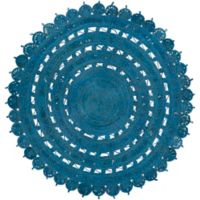 Surya Dazed 8-Foot Round Area Rug in Denim