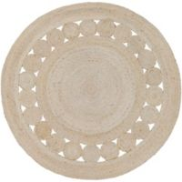 Surya Dazed 8-Foot Round Area Rug in Beige