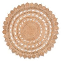 Surya Dazed 5-Foot Round Area Rug in Camel