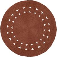 Surya Dazed 8-Foot Round Area Rug in Burnt Orange