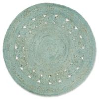 Surya Dazed 5-Foot Round Area Rug in Sage