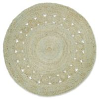 Surya Dazed 5-Foot Round Area Rug in Mint