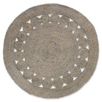 Surya Dazed 5-Foot Round Area Rug in Taupe