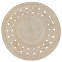 Surya Dazed 5-Foot Round Area Rug in Beige