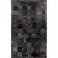 Surya Wichita 4-Foot x 6-Foot Hide Area Rug in Black