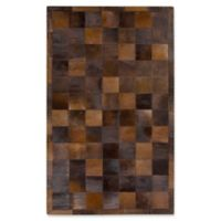 Surya Wichita 5-Foot x 8-Foot Hide Area Rug in Dark Brown
