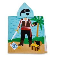 Kids Printed Pirate Hooded Beach Towel