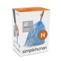 simplehuman® Code H 60-Count Blue Liners