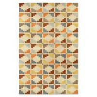 Kaleen Rosaic Symmetry 8-Foot x 11-Inch Area Rug in Sand