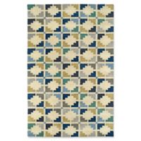Kaleen Rosaic Symmetry 9-Foot 6-Inch x 13-Foot Area Rug in Blue