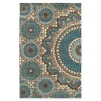 Kaleen Rosaic Lace Impressions 2-Foot x 3-Foot Accent Rug in Teal