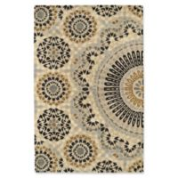 Kaleen Rosaic Lace Impressions 2-Foot x 3-Foot Accent Rug in Charcoal