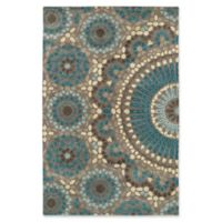 Kaleen Rosaic Lace Impressions 8-Foot x 11-Foot Area Rug in Teal