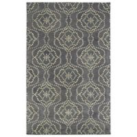 Kaleen Rosaic Wallpaper 2-Foot x 3-Foot Accent Rug in Slate