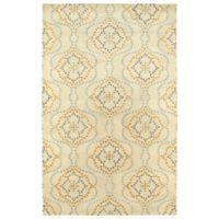 Kaleen Rosaic Wallpaper 2-Foot x 3-Foot Accent Rug in Beige