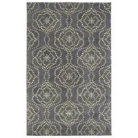 Kaleen Rosaic Wallpaper 3-Foot 6-Inch x 5-Foot 6-Inch Area Rug in Slate