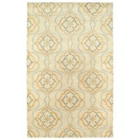 Kaleen Rosaic Wallpaper 8-Foot x 11-Foot Area Rug in Beige