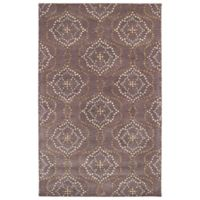 Kaleen Rosaic Wallpaper 9-Foot 6-Inch x 13-Foot Area Rug in Grape
