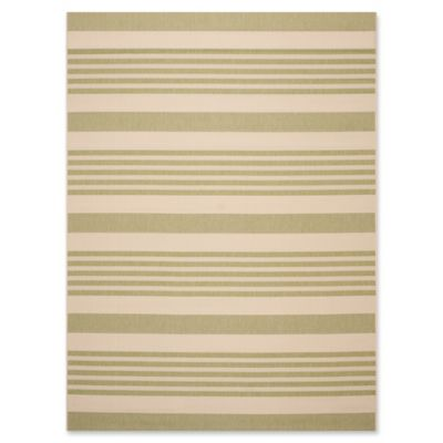 Safavieh Courtyard Stripes 5 Foot 3 Inch X 7 Foot 7 Inch