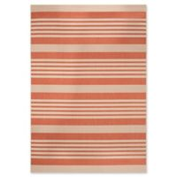 Safavieh Courtyard Stripes 8-Foot x 11-Foot Indoor/Outdoor Area Rug in Terracotta/Beige