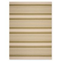 Safavieh Courtyard Stripes 8-Foot x 11-Foot Indoor/Outdoor Area Rug in Green/Beige