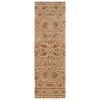 Kaleen Rosaic Patio 2-Foot 6-Inch x 8-Foot Area Rug in Rust