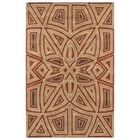 Kaleen Rosaic Patio 3-Foot 6-Inch x 5-Foot 6-Inch Area Rug in Rust