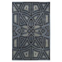 Kaleen Rosaic Patio 5-Foot x 7-Foot 9-Inch Area Rug in Periwinkle