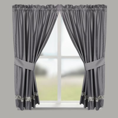 Croscill® Spa Tile Bathroom 45 Inch Window Curtain Panel Pair In Grey
