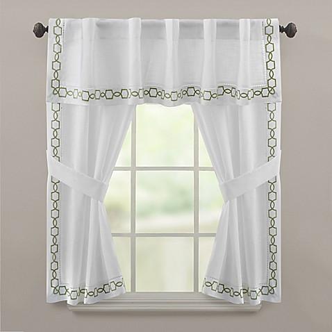 Croscill Landon Window Valance And Window Curtain Panel Pair In Green Bed Bath Beyond