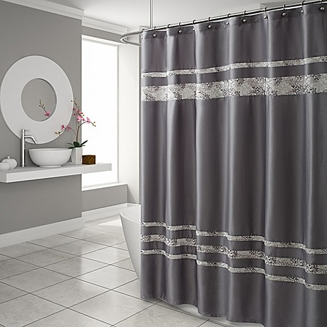 CroscillR Spa Tile Shower Curtain In Grey