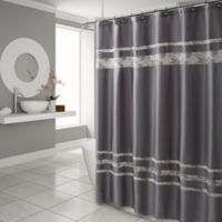 Croscill® Spa Tile 54-Inch x 78-Inch Stall Size Shower Curtain in Grey