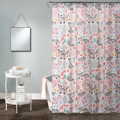 White pink teal curtains curtain menzilperde net for Pink and gray bathroom sets